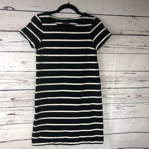 Gap dress black white stripes heavy cotton